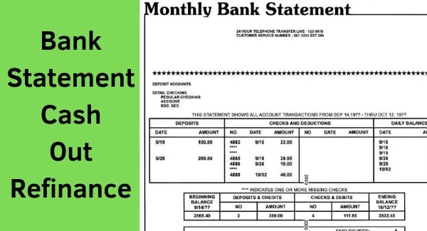 bank statement cash out refinance