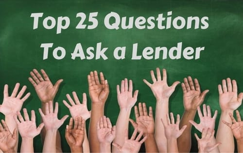 questions to ask a lender