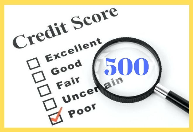 loans with 500 credit score