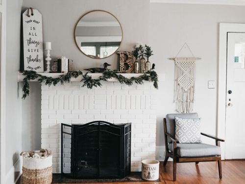 fireplace staging
